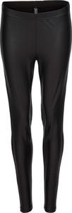 Czarne legginsy bonprix RAINBOW ze skóry ekologicznej