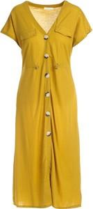 Sukienka Multu w stylu casual z krótkim rękawem midi