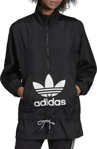 Kurtka Adidas z nadrukiem długa w sportowym stylu