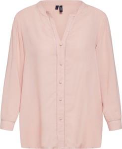 Różowa bluzka Vero Moda z dekoltem w kształcie litery v