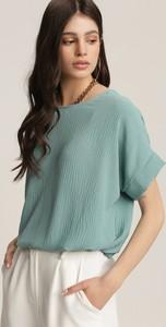 Bluzka Renee w stylu casual z okrągłym dekoltem