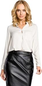 Bluzka MOE z długim rękawem w stylu klasycznym z dekoltem w kształcie litery v