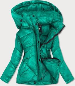 Zielona kurtka Goodlookin.pl krótka w stylu casual