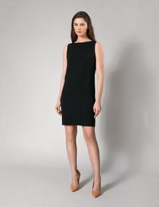 Czarna sukienka Molton mini z okrągłym dekoltem