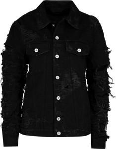 Czarna kurtka Diesel z jeansu krótka