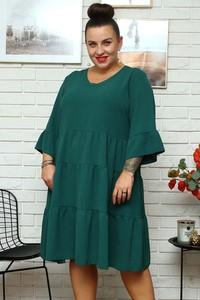 Zielona sukienka KARKO z długim rękawem