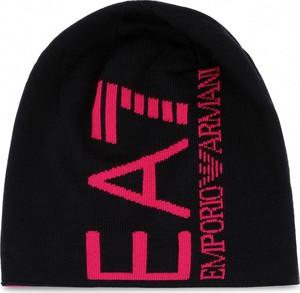 Czarna czapka EA7 Emporio Armani