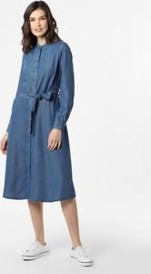 Niebieska sukienka Esprit midi z kołnierzykiem