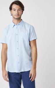 Niebieska koszula Wrangler z krótkim rękawem w stylu casual