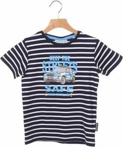 Niebieska koszulka dziecięca Salt & Pepper z krótkim rękawem dla chłopców