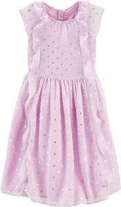 Sukienka dziewczęca OshKosh z tkaniny w groszki