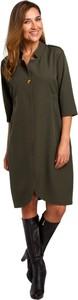 Sukienka Style z kołnierzykiem z tkaniny koszulowa