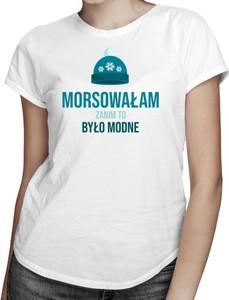 T-shirt Koszulkowy z okrągłym dekoltem w młodzieżowym stylu z krótkim rękawem