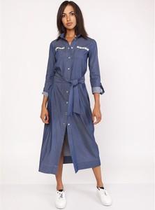 Sukienka Made In Poland z jeansu maxi