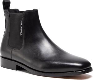 Czarne buty zimowe Karl Lagerfeld
