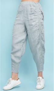 Spodnie 100% Lin w stylu casual