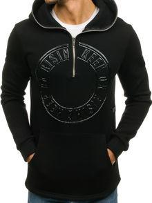 Czarna bluza denley z bawełny w street stylu