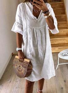 Sukienka Cikelly midi z długim rękawem