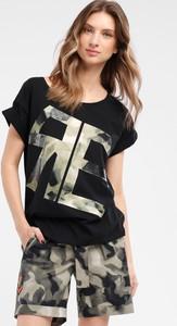 Czarna bluzka redifashion_com z krótkim rękawem