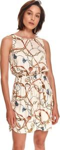 Sukienka Top Secret z okrągłym dekoltem bez rękawów mini