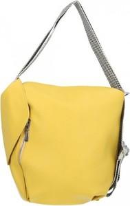 Żółta torebka Chiara Design na ramię matowa duża