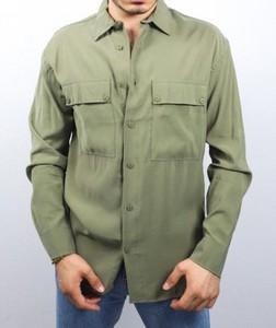 Zielona koszula Duuf z długim rękawem