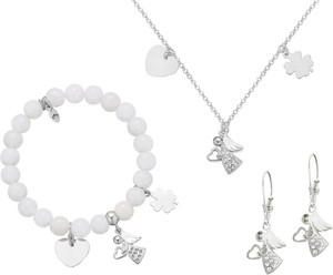 Perlove Komplet Biżuterii Believe na Komunię