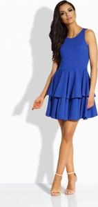 Niebieska sukienka TAGLESS na ramiączkach z okrągłym dekoltem mini