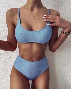 Niebieski strój kąpielowy Kendallme w stylu casual