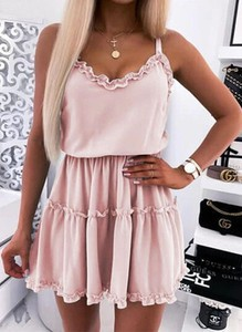 Sukienka Arilook rozkloszowana mini na ramiączkach