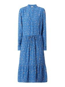 Niebieska sukienka Marc O'Polo DENIM midi z kołnierzykiem koszulowa