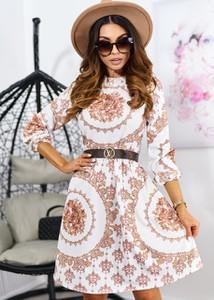 Sukienka Ligari rozkloszowana w stylu casual