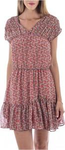 Różowa sukienka See u Soon z dekoltem w kształcie litery v mini