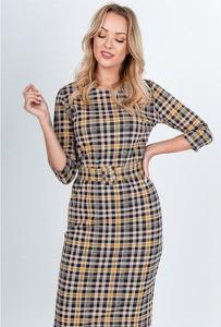 Sukienka Royalfashion.pl w stylu casual z okrągłym dekoltem