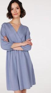Sukienka Unisono z bawełny kopertowa mini