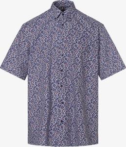 Koszula Eterna z kołnierzykiem button down z krótkim rękawem