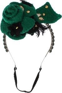 Dolce & Gabbana Srebrny Kryształ kwiatowy pałąk