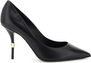 Czarne czółenka Dolce & Gabbana ze spiczastym noskiem na wysokim obcasie na szpilce