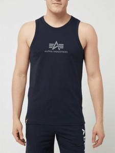 T-shirt Alpha Industries z bawełny z krótkim rękawem z nadrukiem