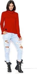 Czerwona bluza Makadamia z bawełny