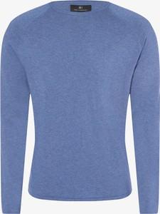 Niebieski sweter Nils Sundström w stylu casual z dzianiny