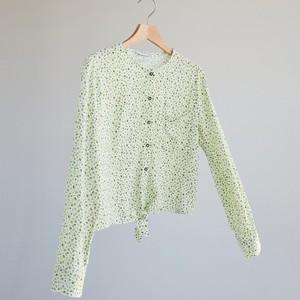 Zielona koszula Reserved z okrągłym dekoltem w stylu casual z długim rękawem