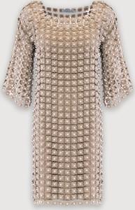 Sukienka Molton mini z długim rękawem w stylu casual