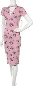 Sukienka Almost Famous z okrągłym dekoltem z krótkim rękawem