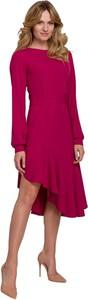 Fioletowa sukienka Makover z tkaniny