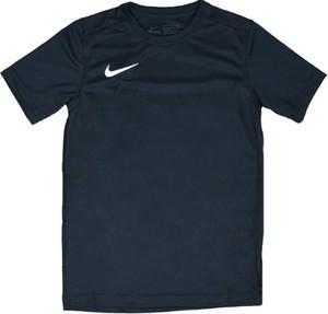 Czarna koszulka dziecięca Nike z tkaniny dla chłopców