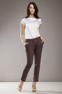 Brązowe spodnie NIFE z bawełny