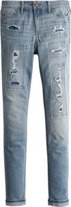 Niebieskie jeansy Hollister Co. w street stylu