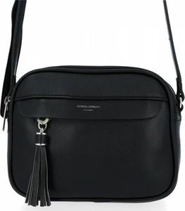 Czarna torebka David Jones w stylu glamour