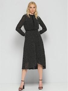Czarna sukienka MEXX midi z długim rękawem